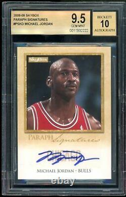 Michael Jordan 2008-09 Skybox Paraph Signatures Auto BGS 9.5 Gem Mint Very Rare
