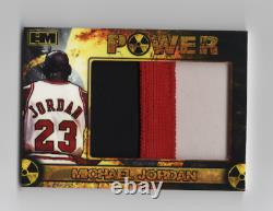 Michael Jordan Jumbo Patch 3 color non auto game used #d/10 Very Rare Power Mint