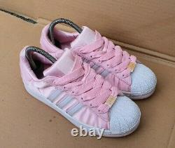 Mint Very Rare Adidas Superstar Adicolor Trainers Size 7 Uk Pink Satin Deadstock