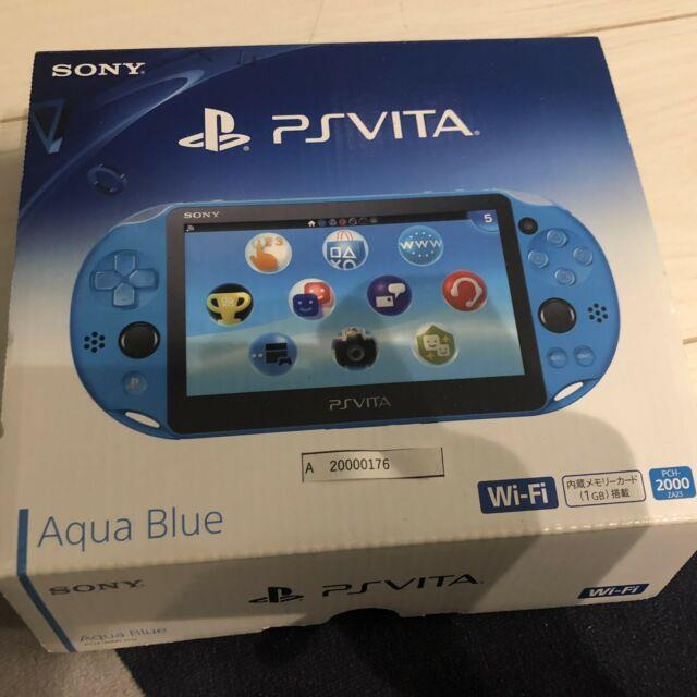 Mint Very Rare Good Condition Ps Vita 2000 Pch-2000 Blue Sony Playstation