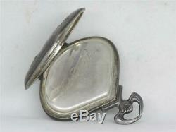 Mint, Very Rare Record Sector 1900's Art Nouveau Silver Pocket Watch, Running