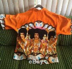 Mint Very Rare Vintage JIMI HENDRIX AXIS BOLD AS LOVE Dragonfly Button Shirt XL