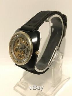 Mint Vintage Citizen Skeleton 21 Jewels Automatic Very Rare Mans Japan 70s