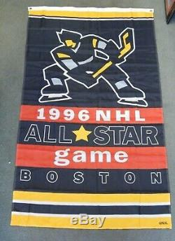 NHL 1996 ALL-STAR GAME BOSTON BRUINS 60 x 35 BANNER VERY RARE MINT CONDITION