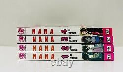 Nana Manga English Set Lot 1-4 Shojo Beat Rare and Very Hard To Find Ai Yazawa