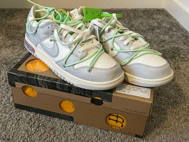 Nike Off White Dunk Low 50 Lot 7 Size 12 Very Rare! Free Shipping! Abloh