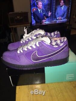 Nike sb dunk low purple lobster size 12, og everything. Very rare lot