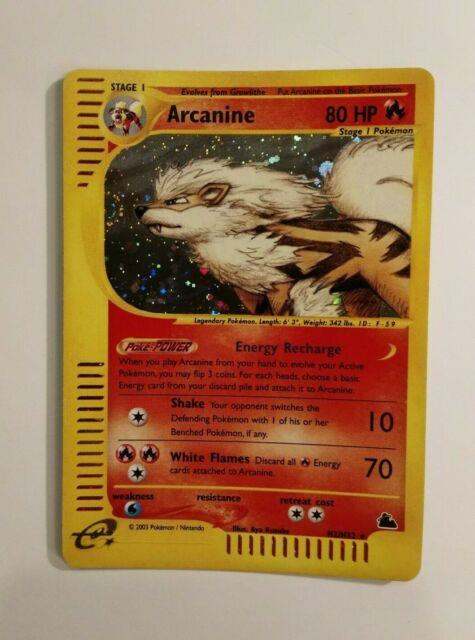 Pokemon Skyridge Arcanine H2/h32 Holo With Swirl! Mint! 2003 So Rare! Very Htf