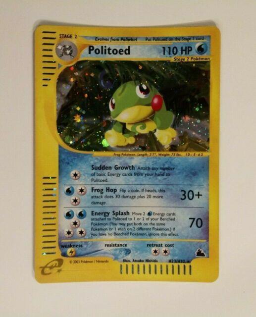 Pokemon Skyridge Politoed H23/h32 Holo Mint! Mint! 2003 So Rare! Very Htf