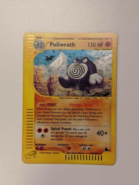 Pokemon Skyridge Poliwrath H24/h32 Holo Mint! Mint! 2003 So Rare! Very Htf