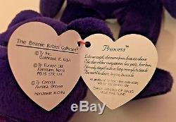 PRINCESS DIANA 1st EDITION BEANIE BABY BEAR Lot 100 VERY HOTThree VERY RARE