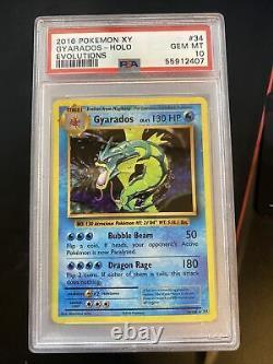 PSA 10 Pokemon XY Evolutions Gyarados Holo Card 34/108 GEM MINT! VERY RARE