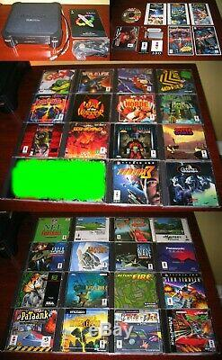 Panasonic 3DO FZ-1 CONSOLE 1ST MODEL HUGE LOT BEST GAMES + SOME VERY RARE EXTRAS
