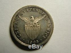Philippines 1903 10 Centavos Silver Proof, US Administration Very Rare Low Mint