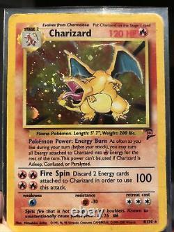 Pokemon Base Set 2 Holo Starting Trio Rare Card Lot Very Good Condition