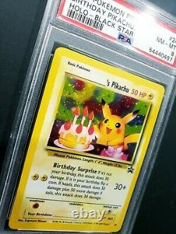 Pokemon Birthday Pikachu # 24 2001 Holo Black Star Promo PSA 8 Mint Very Rare