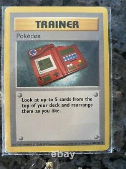 Pokemon Pokedex 1999 Trainer Card 87/102 Near Mint- Very Rare