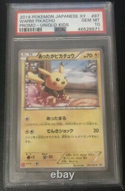 Psa 10 Gem Mint Warm Pikachu Promo Uniqlo Kids #97 XY Pokemon 2014 Very Rare
