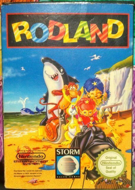 Rodland Nintendo Snes Nes Pal B Spain Cib Game + Box + Manual Very Rare Mint