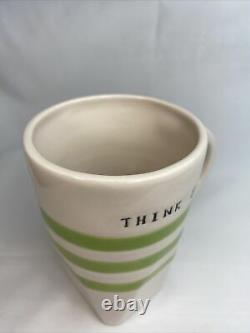 Rae Dunn MAGENTA EXCLUSIVE Think Big Coffee/tea Mug VERY RARE, HTF! MINT