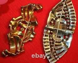 Rare Ktf And Crown Trifari Signed Pin Lot-super Hard To Find Styles-very Nice