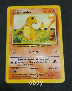 Rare Original 1995 Charmander Pokemon Card 46/102 MINT