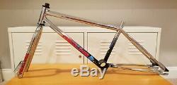 Red Line BMX FRAME and Fork 80s Bike Very Rare Chrome 80s Trimoly MINT