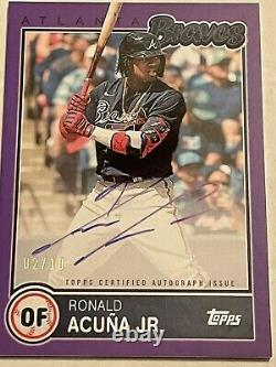Ronald Acuna Jr Auto /10 Topps Purple Certified VERY RARE MINT 10 Invest MVP