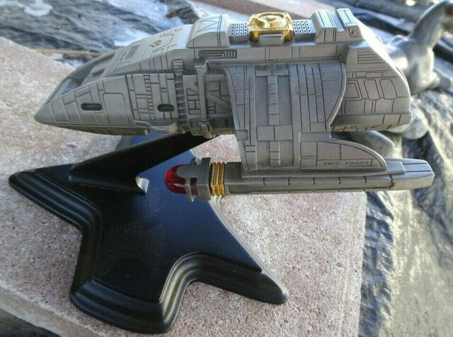Star Trek Rio Grande Ncc-72452 Franklin Mint Pewter 1997 With Stand Very Rare