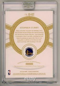 STEPHEN CURRY-2019/20 Flawless (#16/25) AUTO/AUTOGRAPH GEM-MINT & VERY RARE