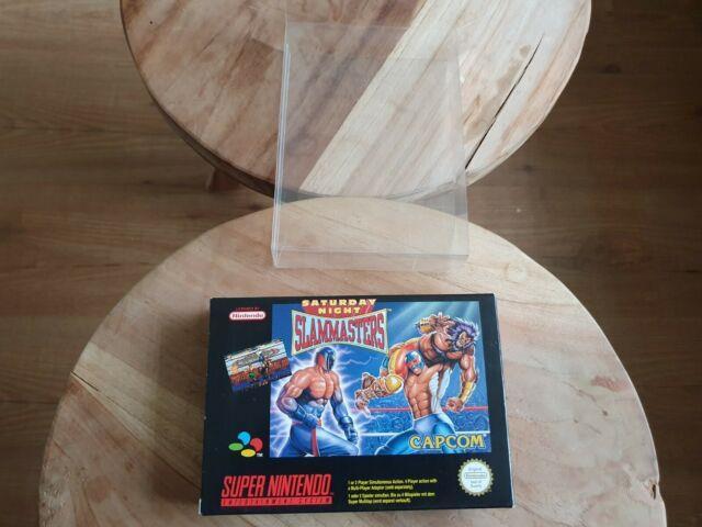 Saturday Night Slammasters Super Nintendo Snes Cib Pal Mint Very Rare