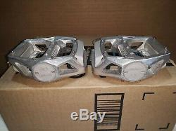 Shimano DX silver 9/16 pedals, HC 1983 March, bmx old school NOS very rare MINT