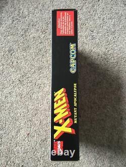 Snes X-Men Mutant Apocalypse Mint Very Rare Super Nintendo