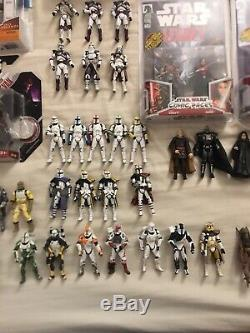 Star Wars Huge Very Rare Lot Of New And Loose Figures! With 100+ Figure Stands
