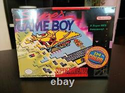 Super GameBoy SNES VERY RARE BRAND NEW SEALED H-SEAM Mint