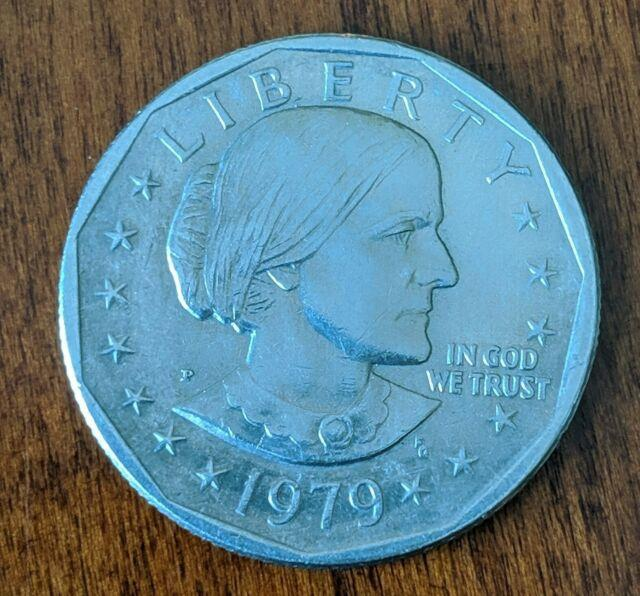 Susan B Anthony 1979 One Dollar Coin, Very Rare Philadelphia Mint P