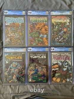 TMNT LOT ALL 9.8 WithWP! #5, #6 (RARE), #7, #8, #9 (VERY RARE), #10