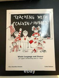 Teaching With Calvin and Hobbes Textbook Bill Watterson VERY RARE NEAR MINT