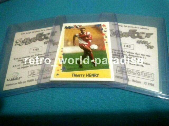 Thierry Henry 1998 Monaco X3 Rookie Panini France Psa 10 New Mint Very Rare