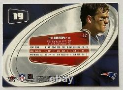 Tom Brady 2004 Fleer E-X Base Holofoil Refractor Very Rare Early Card #19 MINT