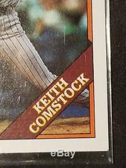 Topps keith comstock (very rare) yellow name error mint condition limited time