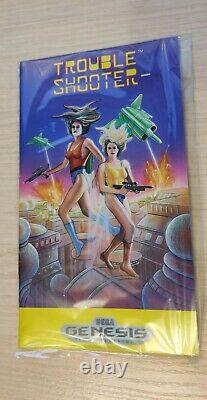 Trouble Shooter Sega Genesis Mega Drive US Game SMD CIB Very Rare Mint Fresh