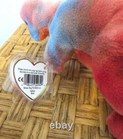 Ty Beanie Baby 3rd Gen. New & Very Rare Rex the Dinosaur with Perfect Mint Tags
