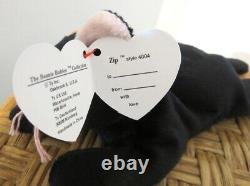 Ty Beanie Baby 3rd Gen. Very Rare Zip the All Black Cat with Perfect Mint Tags