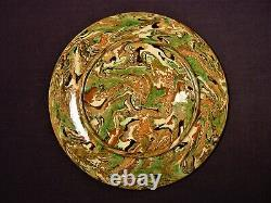 VERY RARE 1800s MARBLED AGATE SMALL DISHES MOCHA MOCHAWARE STAFFORDSHIRE MINT