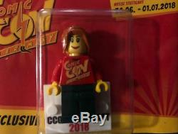 VERY RARE 2018 LEGO LOT 2 FIGURE COMIC-CON STUTTGART 350 ex each NEW man&woman