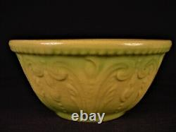VERY RARE ANTIQUE AMERICAN 1800s MOLDED 5 BOWL CREAM & GREEN YELLOW WARE MINT