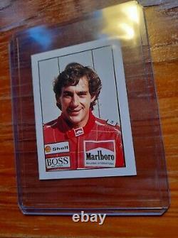 VERY RARE AYRTON SENNA 1991 Edigamma Figurine Sport Champions #30 Sticker MINT
