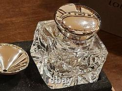 VERY RARE Louis Vuitton crystal inkwell for fountain pen, original box, MINT