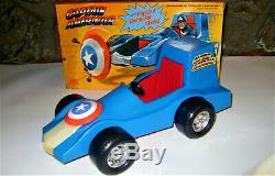 VERY RARE MEGO CAPTAIN AMERICA AMERICAR MINT IN BOX 1976 WGSH FOR 8 Inch FIGURE